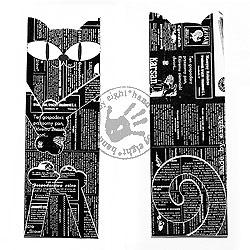 zakładka,kot,black,white - Zakładki do książek - Akcesoria