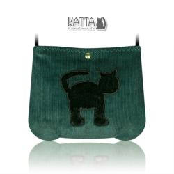 kocia torba,torba z kotem,na skos,mini-torebka - Na ramię - Torebki