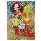 Ilustracje, rysunki, fotografia elf,listopad,ilustracja,jesień