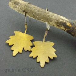 kolczyki,liście klonu,tytan,antyalergiczne - Kolczyki - Biżuteria