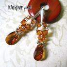 Kolczyki kolczyki plecione z kryształami Swarovski