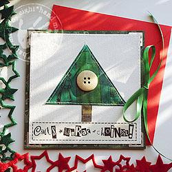 choinka,kartka,święta - Kartki okolicznościowe - Akcesoria