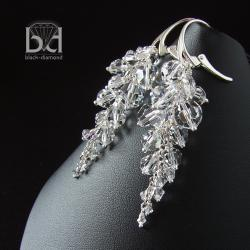 kolczyki swarovski na karnawał na prezent na ślub - Kolczyki - Biżuteria