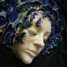 Ceramika i szkło kobalt,kobieta,ceramika,twarz