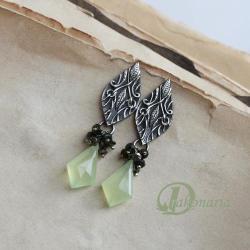wiosna,jabłka,natura,świeżość,liście - Kolczyki - Biżuteria