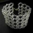 Bransoletki ekskluzywna wyplatana bransoletka Swarovski srebro