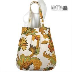 letnia torba,katta,torebka,pojemna,wzory roślinne - Na ramię - Torebki