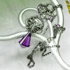 Wisiory wire-wrapping,srebro,ekskluzywny,wisior,bez
