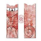 Zakładki do książek zakładka do książki,kot,czerwień,śnieg