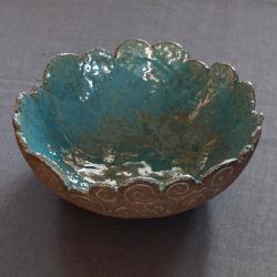 niepowtarzalna,ceramiczna,turkusowa,surowa - Ceramika i szkło - Wyposażenie wnętrz