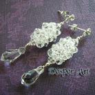 Kolczyki kolczyki ze srebra i kryształów Swarovski,plecion