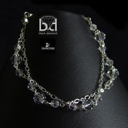 subtelna bransoletka z kryształami Swarovski - Bransoletki - Biżuteria