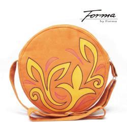 torebka koło,optymistyczna,na ramię,z ekozamszu - Na ramię - Torebki