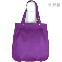alkatara,fioletowa torba,ekozamsz,do pracy - Na ramię - Torebki