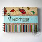 Notesy notes,motyl,paski,kolorowy,linie,wiosna,