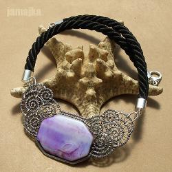 agat,pleciony,ażur,na szyję - Naszyjniki - Biżuteria