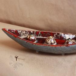 lampa oliwna,ceramika,trzy ognie - Ceramika i szkło - Wyposażenie wnętrz