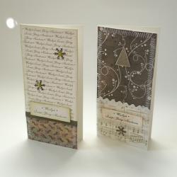 kartka,Boże Narodzenie,choinka,śnieżynka - Kartki okolicznościowe - Akcesoria