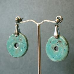 kolczyki niebieskie,kolczyki ceramiczne - Kolczyki - Biżuteria
