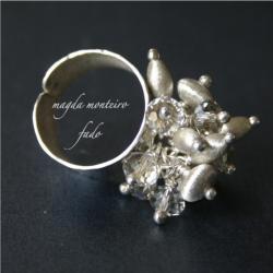 pierścionek,srebro,swarovski,kryształ - Pierścionki - Biżuteria