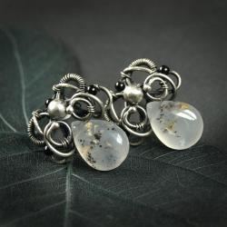elfy,kobiece,delikatne,lekkie,misterne,srebro - Kolczyki - Biżuteria