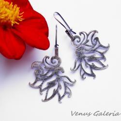 srebro,oksyda,kolczyki - Kolczyki - Biżuteria