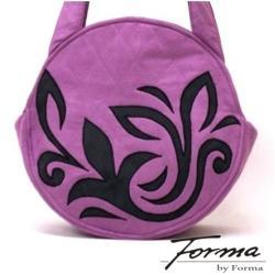torebka na ramię,lila róż,koło,pojemna - Na ramię - Torebki