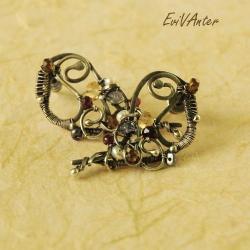 wire-wrapping,natura,kolczyki,kolor - Kolczyki - Biżuteria