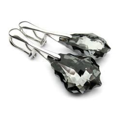 klipsy Swarovski Silver Night i srebro - Klipsy - Biżuteria