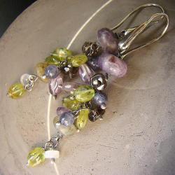 srebro,kobiece,romantyczne,elegancki,jesienne - Kolczyki - Biżuteria